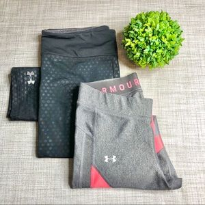 Under Armour compression/ fitted bottoms bundle
